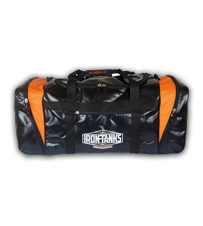 Powerlifting Bodybuilding Heavy Duty Duffel Iron Tanks Raven Black Gym Bag