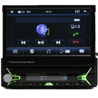 Bulethooth In-dash detachable FM USB SD CD/DVD Touch screen 1 din 7 inch car DVD