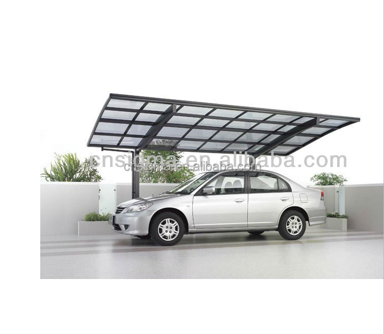 2016 Top sale used aluminium carport polycarbonate canopy roof