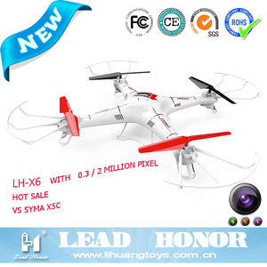 X5C High grade 4ch 2.4G 6 axis rc PFV drone helicopter hobby king with HD camera 2 Mega pixel