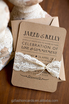 Rustic Elegant And Country Chic Craft Wedding Invitations