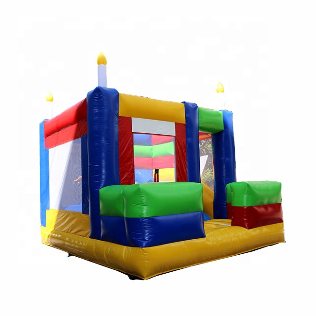 Manufacturer children's parties fashion inflatable toys candle jumping house castle jumper air bouncer for sale