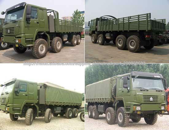Sinotruk howo 8x8 tout terrain camion roulant vendre camion militaire cam - Terrain militaire a vendre ...