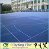 Qualified Flooring professional antislip colorful outdoor pp basketball sports flooring