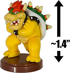 "Bowser: ~1.4"" New Super Mario Bros. Wii Choco Egg Mini Figure Series [NO CANDY] (Japanese Import)"