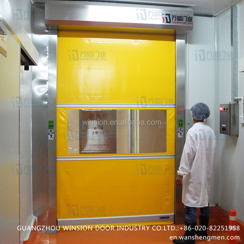 Automatic electric openning factory interior door cheap rolling industry pvc gates