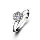 1CT Diameter 6.5mm Center DEF Moissanite Solitaire 18K White Gold Ring Jewelry