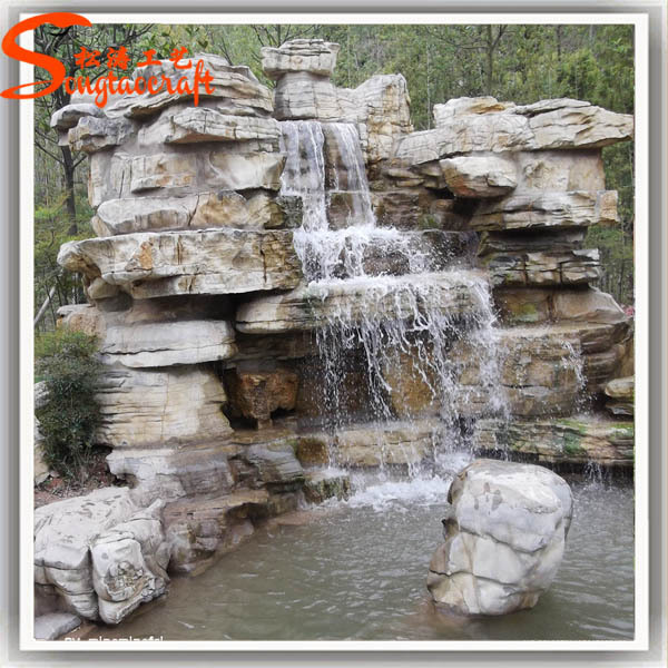 2015 Hot Sale New Style High Durability Decoration China Pond Garden  Artificial Waterfall Rocks For Sale
