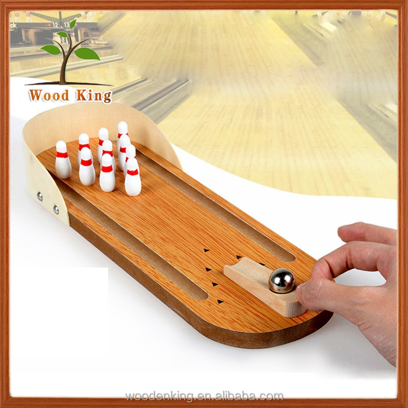 Children'S Educational Toys Wooden Desktop Wholesale Human Kids Winsome Bowling Game Ball Set Toy Mini Bowling Pins