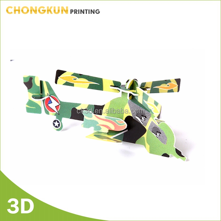 Factory OEM promotional Custom 4D air plane puzzle