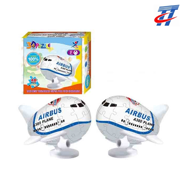 Hot sale children toys 3D educational toys jigsaw 3D A380 plane paper puzzle