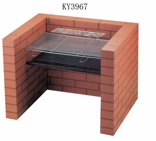 New Por Design Charcoal Bbq Grill Built Into A Brick Stand Convenient