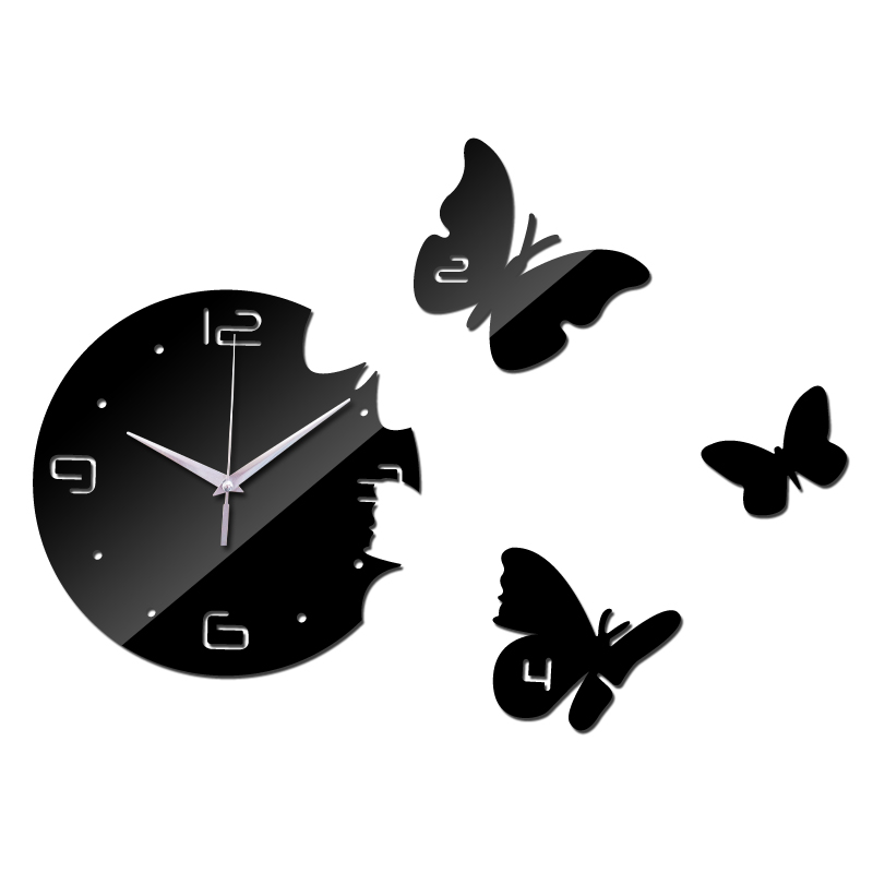 2016 New Europe Acrylic 3d Sticker Wall Stickers Home Decor Poster Mirror Wall Clock Large Still