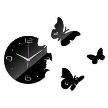 2016 New Europe Acrylic 3d Sticker Wall Stickers Home Decor Poster Mirror Wall Clock Large Still Life Kitchen Butterfly Horse
