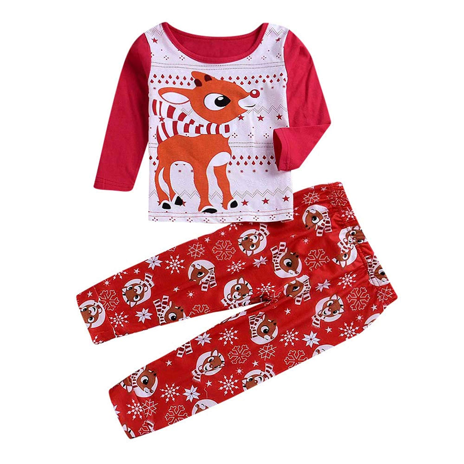 dc593a1eb7 Get Quotations · Winsummer Christmas Matching Family Pajama Set Red Holiday Family  Matching Winter Snowflake Sleepwear Pjs Sets