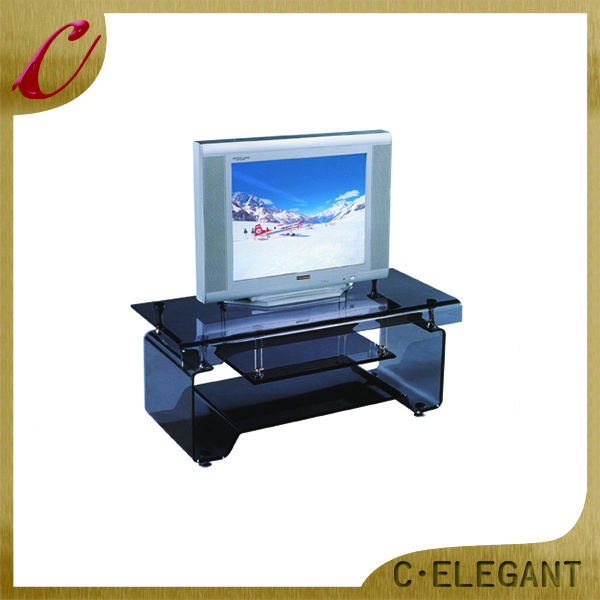 Cheap Wholesale stainless steel and glass tv stand