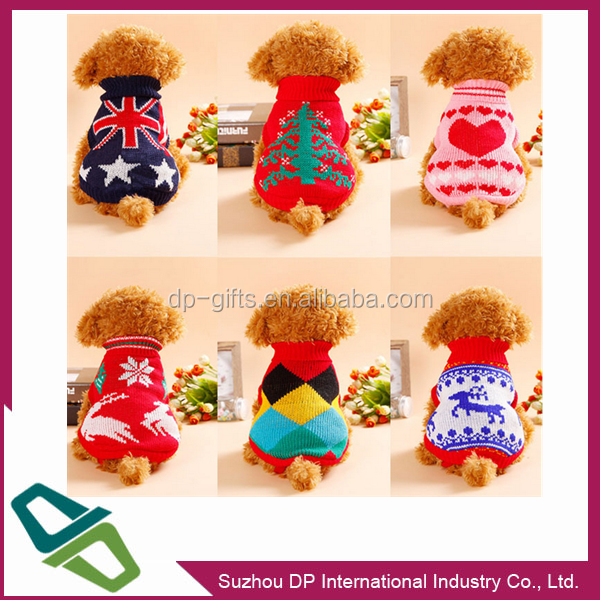 Eco-Friendly Pet Sweater Knit Fabric Dog Clothes