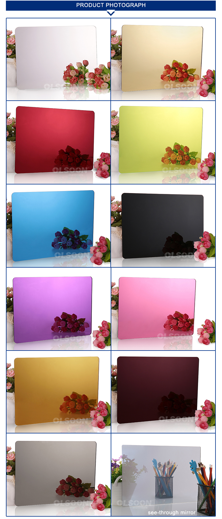 0.8-6mm thickness PMMA acrylic sheets