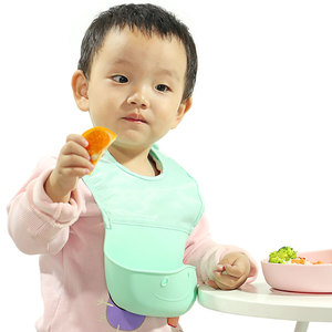 New Product Ideas 2019 Custom Acceptable BPA Free Waterproof Baby Bibs Silicone