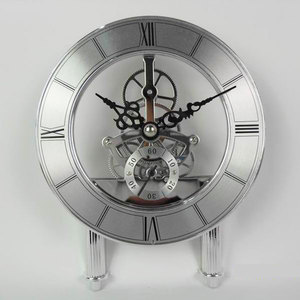 KFOUR K126-AT(short stand) Transparent skeleton clock insert quartz clock movement mechanism with short stand