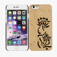 Cell phone Wooden Wood Hard Back Engraved Design Case Cover