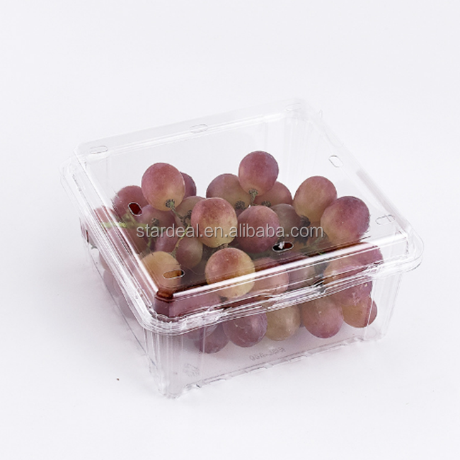 China wholesale customized disposable clear plastic clamshell packaging for food