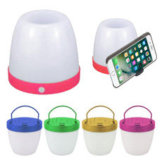 Multi purpose stationery portable mini pocket table plastic circle led outdoor light mobile phone holder drawer pencil stand