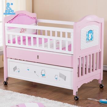 Nuevo dise o nico de madera multifuncional beb cunas for Cunas para bebes de madera