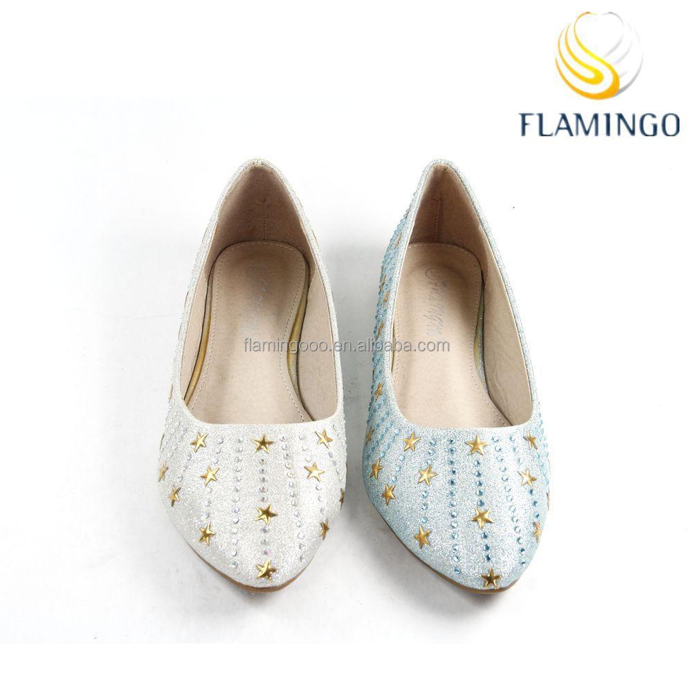 Flamingo 2015 Latest Odm Oem Women Shiny Flat Shoes Casual Ladies ...
