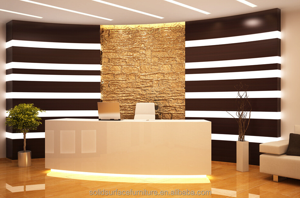 Modern Beauty Salon Reception Deskscurved