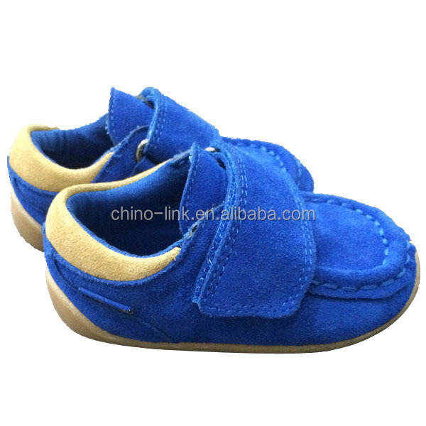 Suede leather upper soft quality baby shoe wholesale