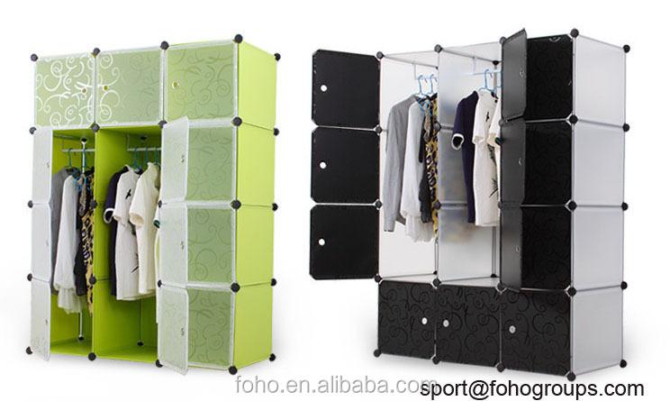 Cabinet Design For Clothes For Kids fh-al0039-12 lovely kids wardrobe design folding cupboard online