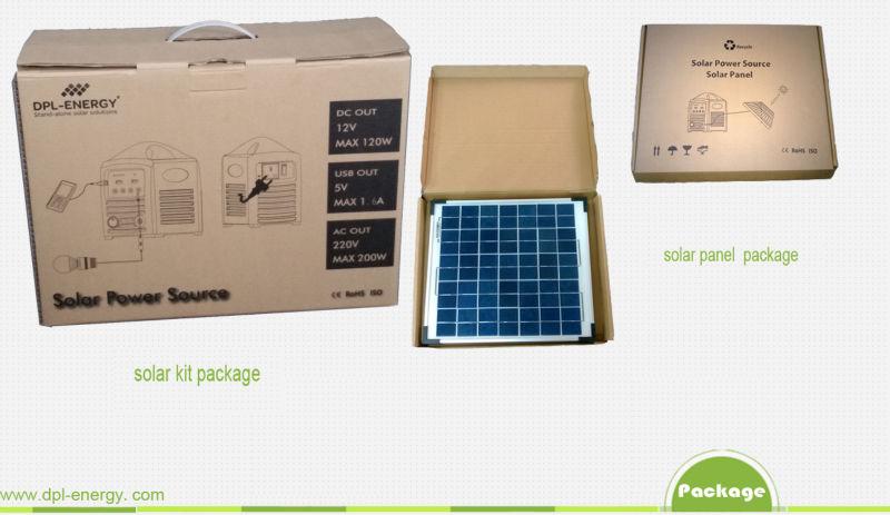 2015 New Design 12v Lithium Solar Plant Solar Panel Kit