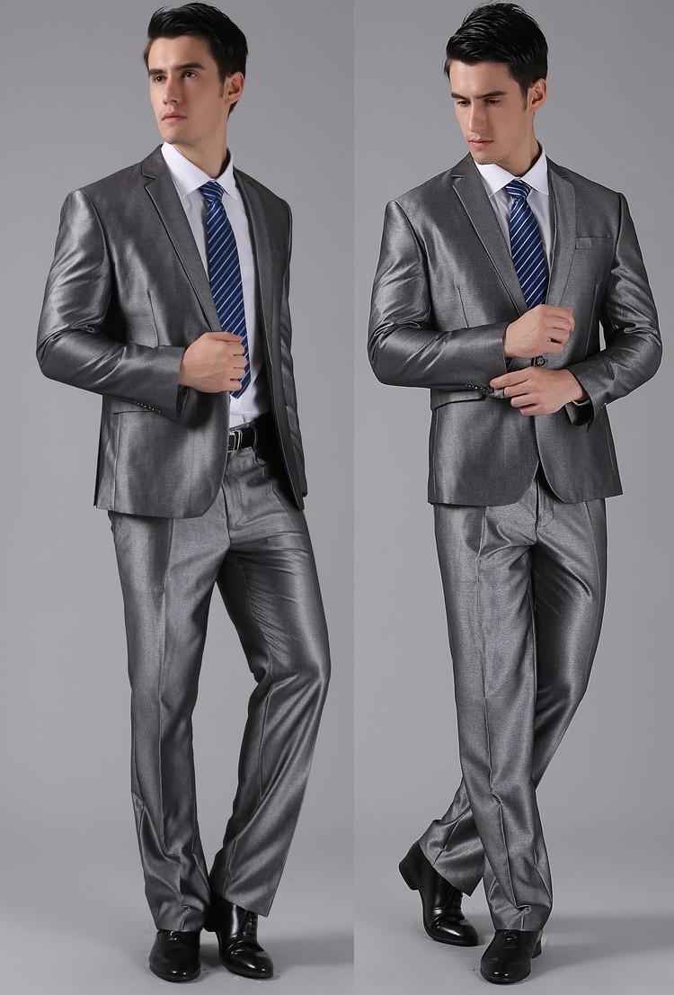 (Kurtki + Spodnie) 2016 Nowych Mężczyzna Garnitury Slim Fit Niestandardowe Garnitury Smokingi Marka Moda Bridegroon Biznes Suknia Ślubna Blazer H0285 25