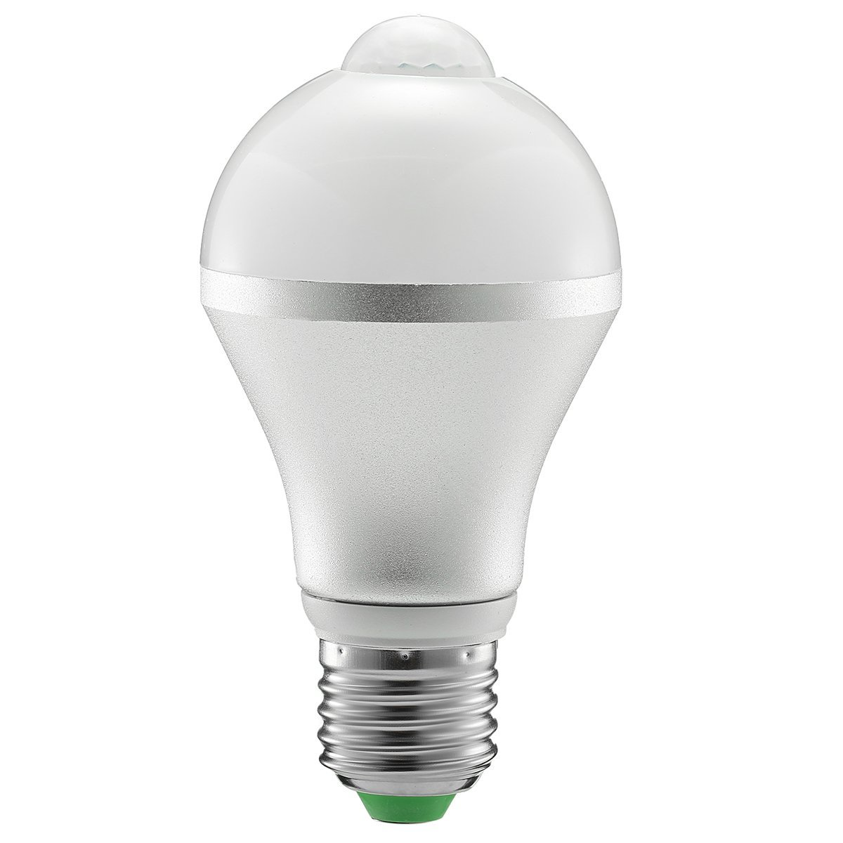 Motion Sensor Light Bulb, KINGSO E27 7W PIR Infrared Motion Sensor Lamp - 5730 SMD 14LED Detection Light, Auto Switch Night Lights for Stairs Lobby Carport Hallway Security 85-265V Warm White