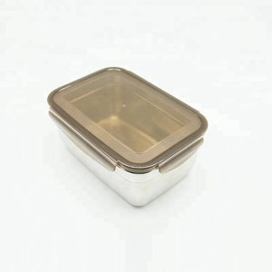 Food-Grade Stainless Steel Lunch Box Rectangle Food Container