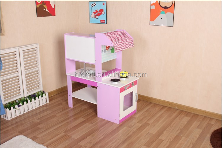 Unique Corner Construction Kitchen Toy Set With Plastic Accessories, 2016 Wooden Kitchen Toy For Girls