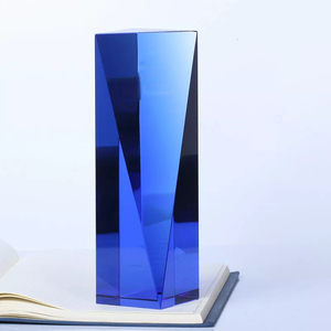 Crystal colorful Cube awards and trophies for year awarding 2019