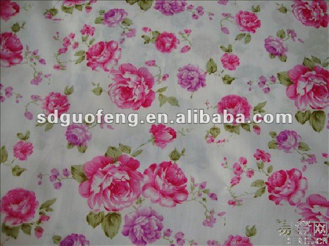 2012 hot sale flower design printed cotton fabric