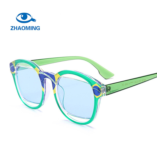ZHAOMING Luxury Brand Cat Eye Sunglasses Women Fashion Colorful Sun Glasses 2018 New Multicolor Sunglasses Party Eyewear UV400