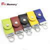 Dr.memory 2016 beautiful 5 colors wholesale leather usb flash drive can custom emboss logo with hook 4GB 8GB 16GB 32GB usb gift