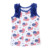 2019 hot sale white sleeveless ruffle children clothing baby clothes top 100 child model