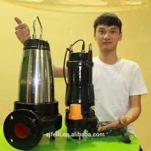 fecal sewage pump for dirty water grinder submersible sewage pump