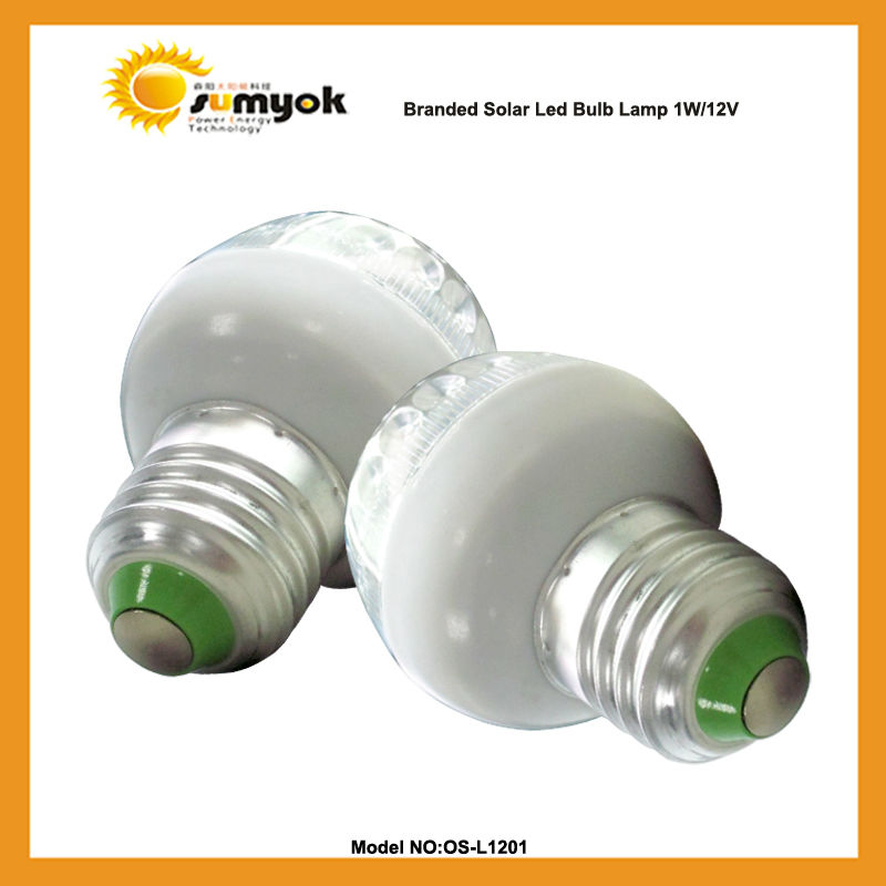 led bulb 1w 12v with long life OS-L1201 mini useful solar lamp e27