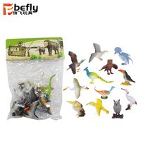Animal model collection kit plastic little bird toys for kids