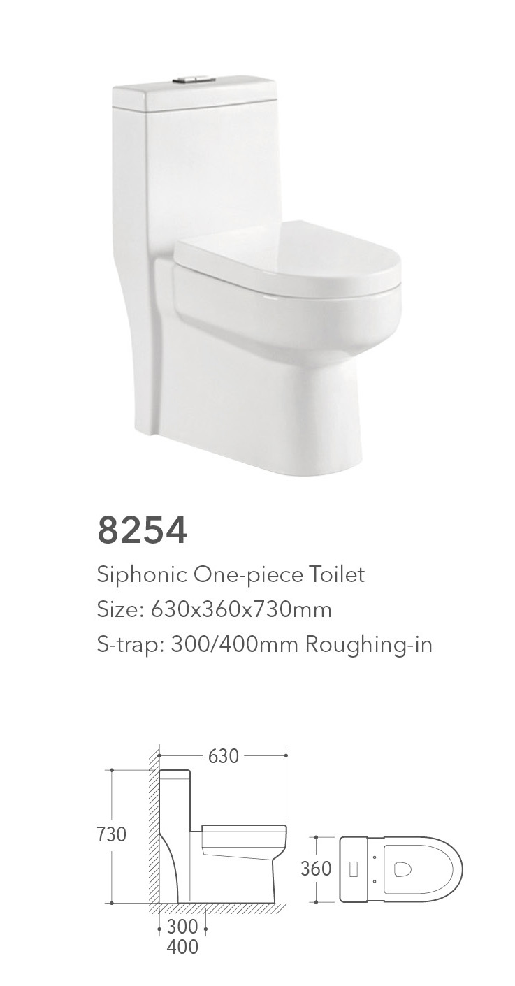 8254R china wholesale ceramic bathrooms designs siphon one piece sanitary wares