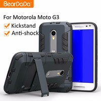 Best Selling Shockproof kickstand TPU PC case for moto g 3