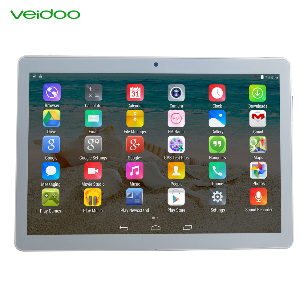 Veidoo kwaliteitsborging tablet pc10 inch tablet pc IPS scherm quad cord 3G dual sim tablet pc
