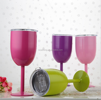 Stainless steel red wine glass