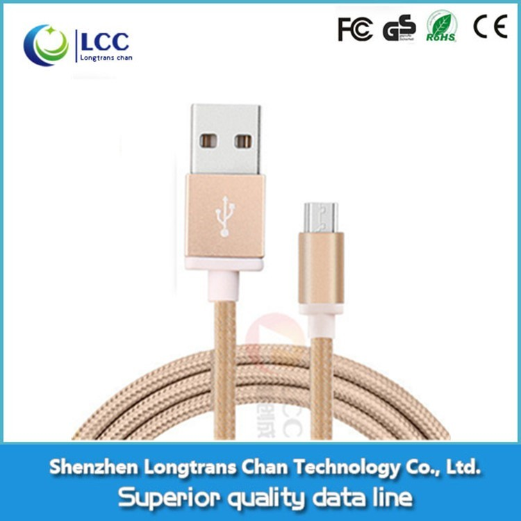 Nylon Braided Micro Usb Data Cable For Samsung Mobile Phone,1.5M 2A Data Line,Sync Charging Usb Data Cord